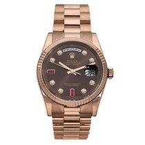 Rolex Day-Date Or rose 36mm Brun Sans chiffres France, Paris