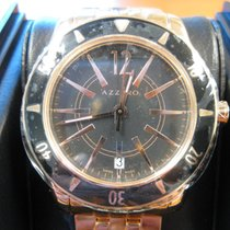 Azzaro Rose gold Quartz Black No numerals 40mm new