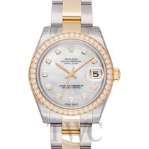 롤렉스 (Rolex) Datejust 31 White MOP Steel/18k Yellow Gold Dia...