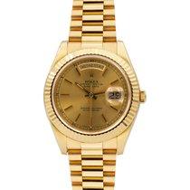 Rolex Day-Date President 36 mm Yellow Gold Ref 18038 w/ Warranty