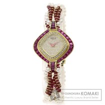 Sarcar サーカー パール/真珠/ダイヤモンド/ルビー 腕時計 K18イエローゴールド レディース