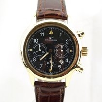 IWC 3741 Yellow gold Pilot Chronograph
