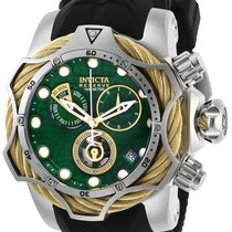 Invicta Men s 27788 Reserve Quartz Chronograph Green Dial Watch for ... 9820596d494