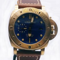 Panerai Bronze Automatic Blue No numerals 47mm new Special Editions