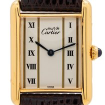Cartier Tank Vermeil 24mm Roman numerals United States of America, California, West Hollywood