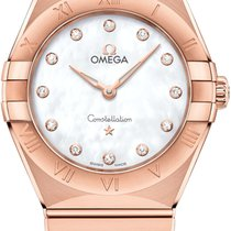 Omega Constellation Quartz Or rose 28mm Nacre