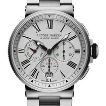 Ulysse Nardin Marine Chronograph Сталь 43mm Белый