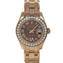 Rolex Lady-Datejust Pearlmaster Rose gold 29mm Brown Roman numerals United States of America, Maryland, Baltimore, MD