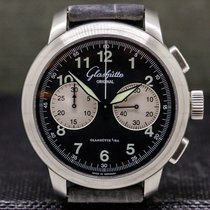 Glashütte Original Senator Navigator Chronograph pre-owned 44mm Black Chronograph Leather