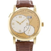 A. Lange & Söhne Yellow gold Manual winding Champagne 41.9mm pre-owned Grand Lange 1