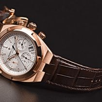 Vacheron Constantin Rose gold Automatic Silver No numerals pre-owned Overseas Chronograph