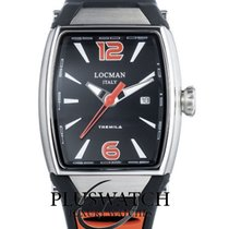 Locman Tremila Steel 50mm Black Arabic numerals