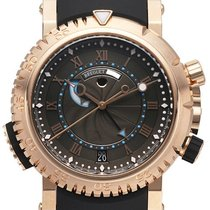 Breguet new Automatic Center Seconds Power Reserve Display Rotating Bezel 45mm Rose gold Sapphire crystal