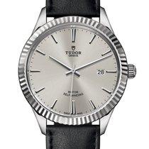 Tudor Style Steel 41mm Silver