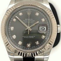 Rolex Datejust II Acero 41mm Plata (maciza) Sin cifras