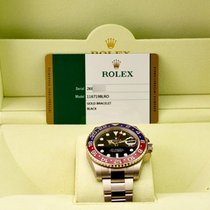 Rolex GMT Master II Black Dial 18kt White Gold Pepsi