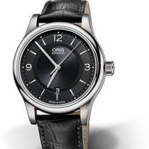 Oris CULTURA CLASSIC DATE Steel-Black Dial & Leather Strap...