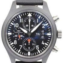 IWC Pilot Chronograph Top Gun from 2012 with B+P NEW IWC SERVICE