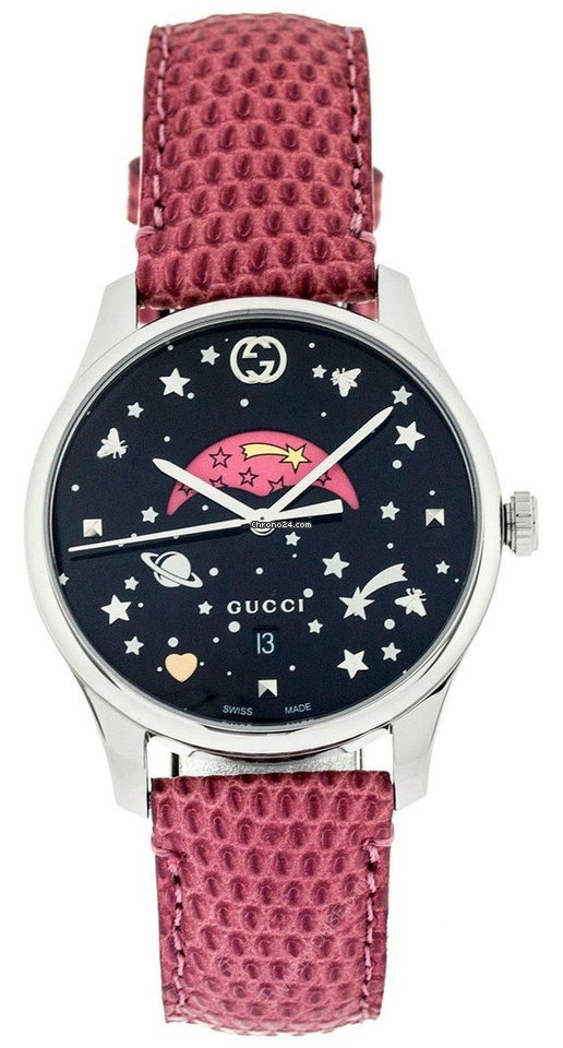 96f3d0762ed Gucci G-Timeless Slim Moonphase BLK Dial Pink Leather Watch... for Php  64