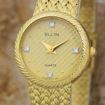 Elgin 22mm Quartz 1980 tweedehands Goud
