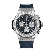 Hublot Big Bang Jeans pre-owned Blue Fold clasp