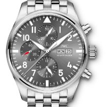 IWC Pilot Spitfire Chronograph Steel 43mm Grey Arabic numerals