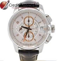 Hamilton Railroad pre-owned 46mm White Chronograph Date Leather