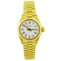 Rolex Oyster Perpetual 26 Yellow gold 26mm White No numerals