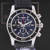 Breitling Superocean Chronograph M2000 Aço 46mm Preto Sem números