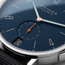 NOMOS Ahoi Atlantik Datum Steel 40mm Blue Arabic numerals