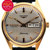 Longines Or rose Remontage automatique Gris 35mm occasion Admiral