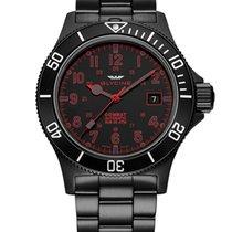 Glycine COMBAT SUB GL0080 black PVD, black dial, red marks
