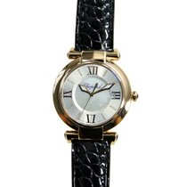 Chopard Imperiale 18k Rose Gold Silver Quartz 384221-5001