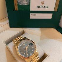 Rolex Day-Date 36 usato 36mm Verde Data Oro giallo