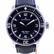 Blancpain Fifty Fathoms Steel 45mm Black No numerals