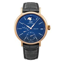 IWC Red gold Manual winding Blue 45mm new Portofino Hand-Wound