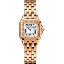 Cartier new Quartz 22mm Rose gold Sapphire Glass