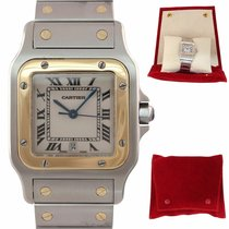 Cartier Santos Galbée Steel 29mm Champagne Roman numerals United States of America, New York, Huntington