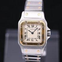 Cartier Santos Galbée Gold/Stahl 24mm Weiß Römisch Deutschland, Rosenheim