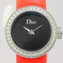 Dior La D Quartz Steel Lady Bezel Diamonds CD040110-J (New)