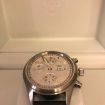 IWC Fliegerchronograph Day Date Steel with warranty