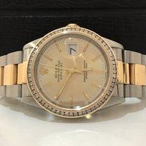 Rolex Datejust 36mm Ouro & Aço Diamantes Impecavel Completo