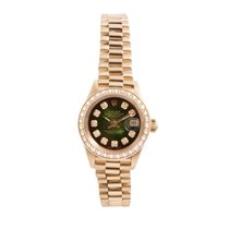 Rolex Lady-Datejust Ouro amarelo 26mm Verde