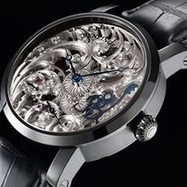 Benzinger Full Skeleton Floral Black/White German men's watch...