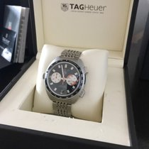 TAG Heuer Chronograph 42mm Automatic 2008 pre-owned Autavia Black