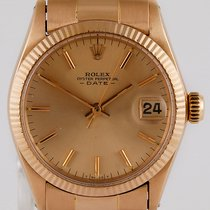 Rolex Red gold Automatic pre-owned Oyster Perpetual Date