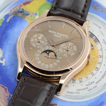 Patek Philippe Perpetual Calendar Rose gold Brown No numerals
