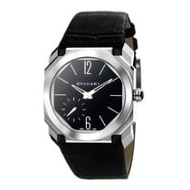 Bulgari Platinum Manual winding Black new Octo