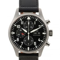 IWC Pilot Chronograph Steel Black