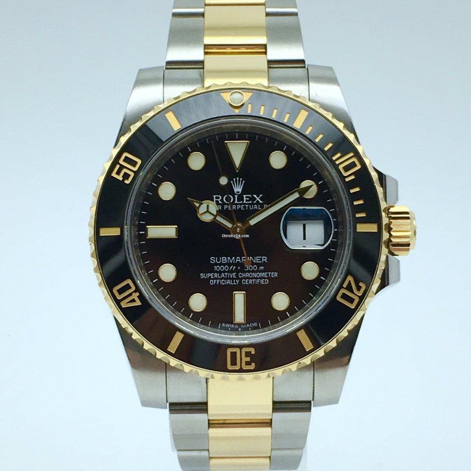 metà fuori fe411 a0344 Rolex Submariner Date like new 05/2013 full set